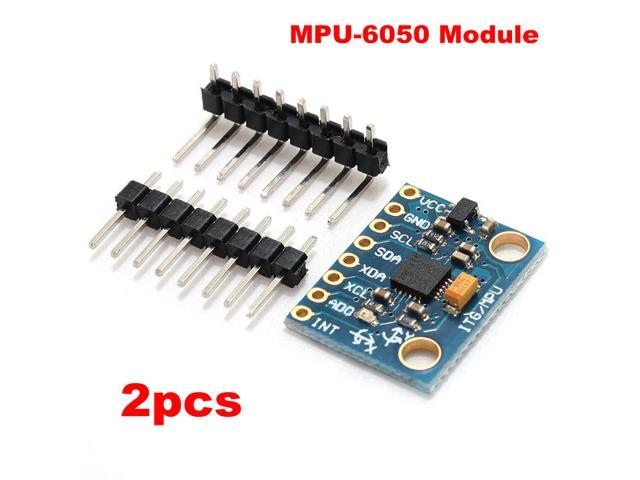 2pcs! MPU-6050 3 Axis Accelerometer Sensor & Gyroscope 6DOF Module 3.3V-5V For Arduino