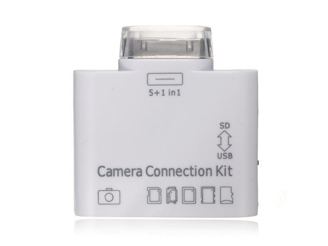 USB 5 in 1 Camera Connection Kit SD TF Card Reader for iPad