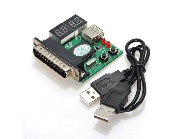 4-Digit PC Analyzer Diagnostic Motherboard Tester USB Post Test Card Powerful
