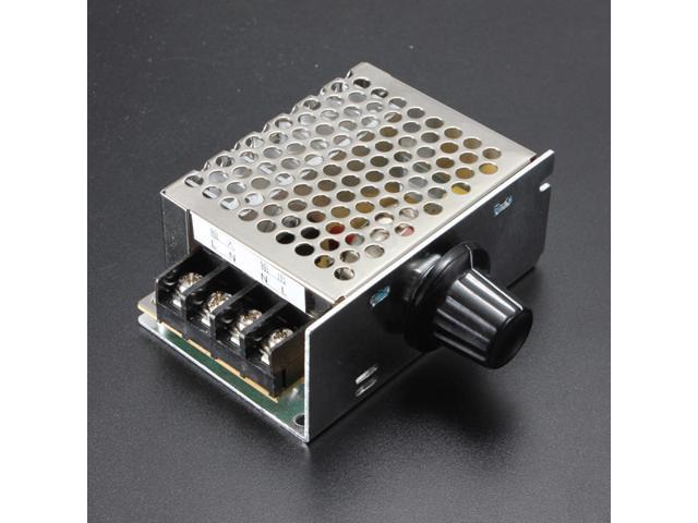 4000W AC 220V SCR Voltage Regulator Volt Regulator Light Speed Controller Dimmer Thermostat
