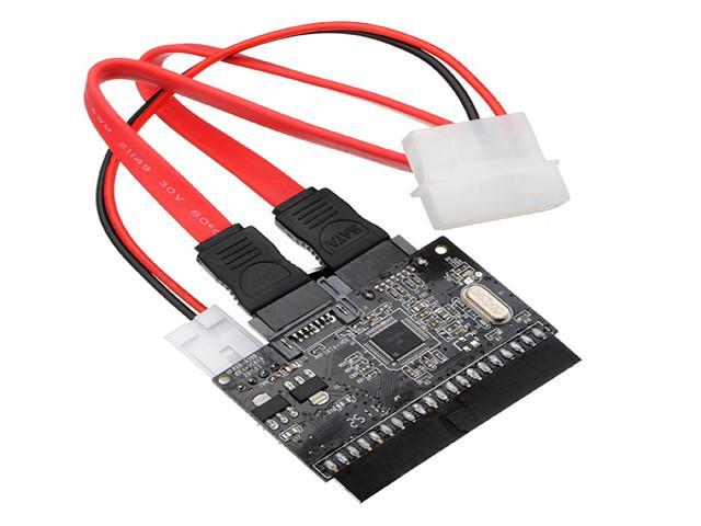 """3.5"""" inch SATA to IDE / IDE to SATA ATA100/133 Adapter Converter + Cable 2 in 1"""