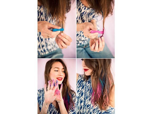 Non-toxic Temporary Hair Color Chalk Dye Soft Pastels Salon Kit 24 Colors Christmas Gift