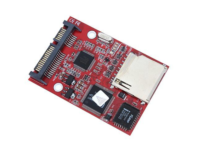 SD SDHC Secure Digital MMC to SATA Adapter Converter Support Windows Mac Linux