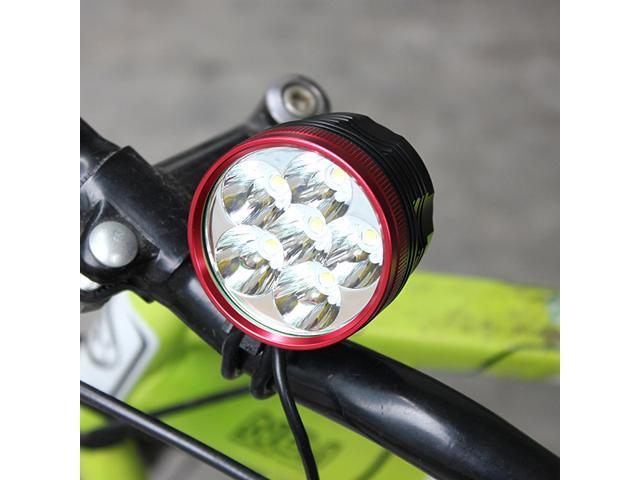 9000 Lumen 6× CREE XM-L T6 LED Bicycle Headlight Bike Headlamp Lamp Set 6 T6 LED Flashlight Front Light 3 Modes