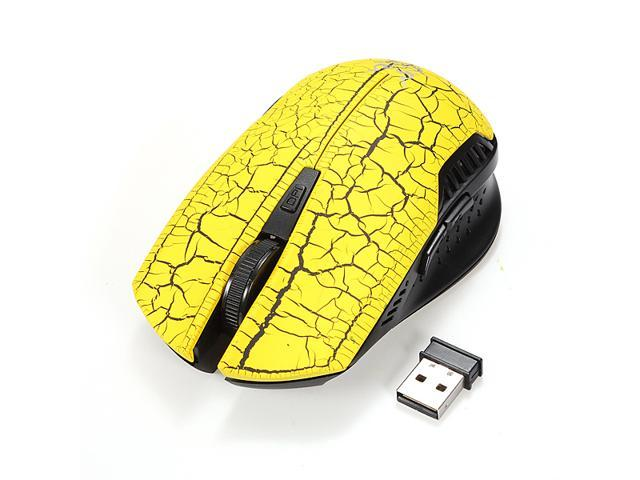 2000DPI 6D 2.4GHz Crack Style Wireless Gaming Mouse Mice for Laptop PC Computer