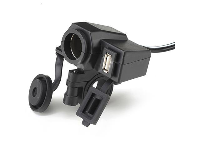 Motorcycle 12V Cigarette Lighter 5V USB Power Socket Charger for GPS Cell phone
