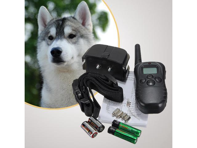 LCD 100LV Level Electronic Electric Anti Bark Shock Vibra Vibrate Rechargeable Remote Control Pet Dog Training Collar Trainer System for 10-130lb Dog