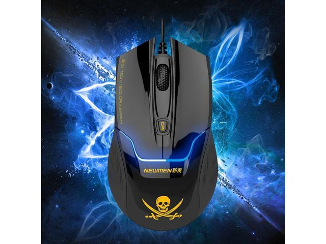 Newmen 4000 Pirate Pattern 4Key 1600DPI Optical Wired USB Game Gaming Mouse Mice for pc laptop notebook computer
