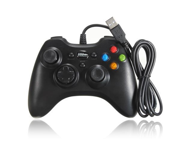 USB Wired GamePad Game Shock Game Controller Joypad For Windows PC Black