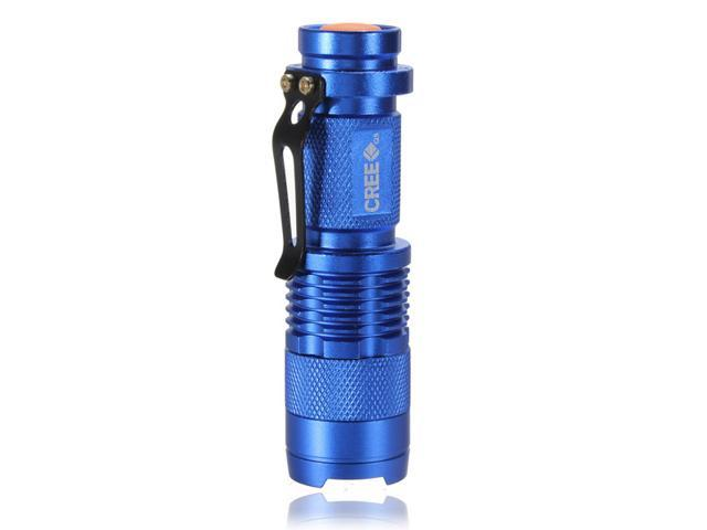 Cree Mini 7W 300LM CREE Q5 LED Flashlight Torch Zoom Zoomable Focus Light SA3 14500 - Blue