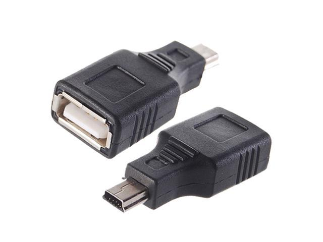 NEW USB A Female to Mini USB B 5 Pin Male Adapter Converter for PC latop