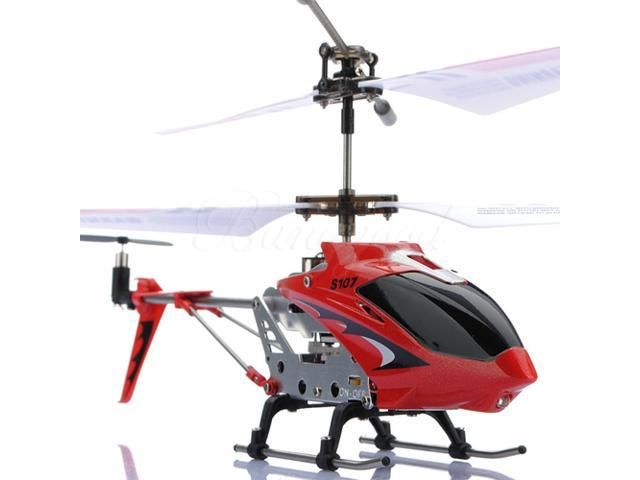 SYMA S107 3CH Remote Control Metal Gyro Helicopter - Red