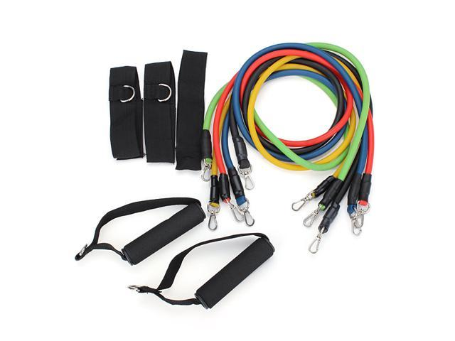 11pcs Resistance Bands Tubes GYM Physical Exercise Practice Set for Yoga ABS Workout Fitness