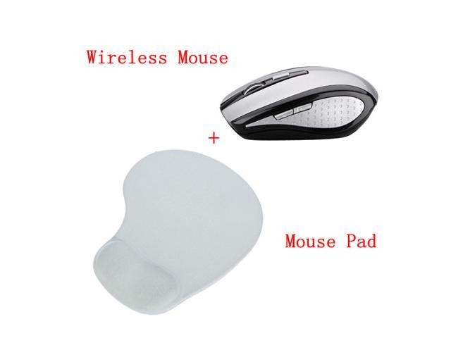 2.4GHz Optical Wireless Mouse Cordless Mice For Window 7/8 XP Vista 2000 + Mouse Pad With Gel Wrist Support