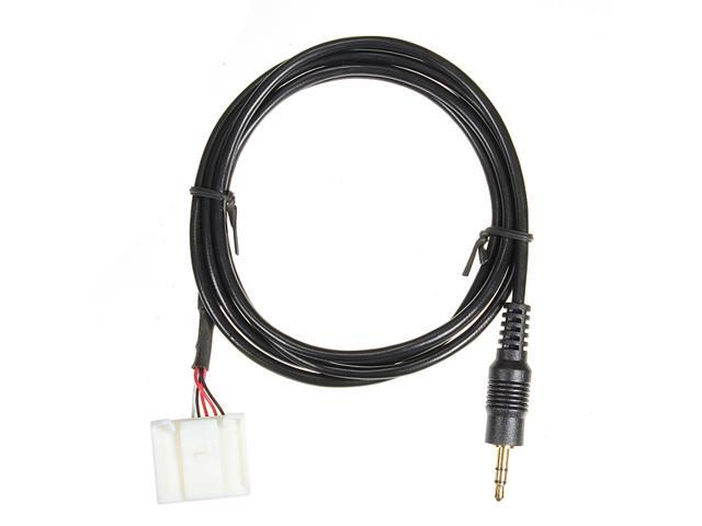 Earphone Jack 3.5mm AUX IN Audio Input Adapter MP3 Player Phone For Toyota 2007 2008 2009