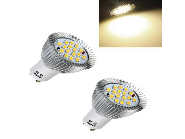 2pcs GU10 16 LED 5630 SMD 6.4W Energy Saving Spot Light Lamp Bulb 85-265V Warm White