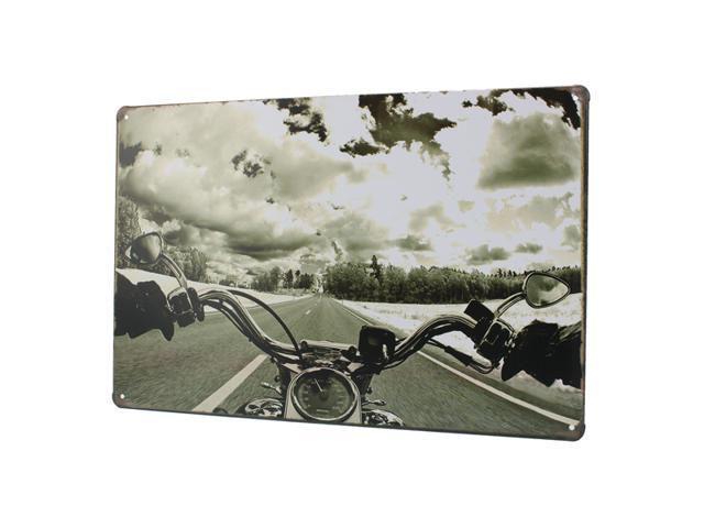 Vintage Picture Harley Motorcycle Vintage Metal Painting Tin Sign Poster Pub Bar Garage Wall Decor Plaque