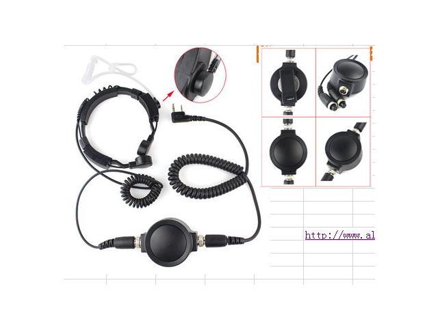 Tactical IP54 Big PTT Telescopic Mic Headset for Walkie Talkies
