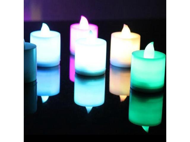 12xSmokeless Flameless Safe Shine Monochrome Party Electronic LED Lights Candles- Valentine's Day Wedding Party Birthday Chrismas/Xmas