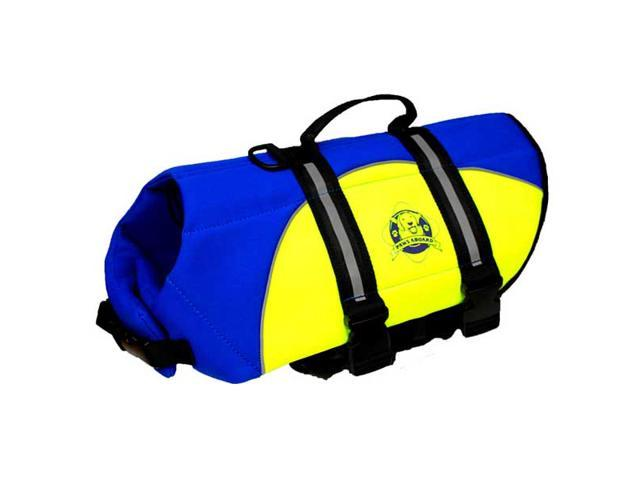 Paws Aboard Large Neoprene Designer Doggy Blue / Yellow Life Guard / Jacket Upto 50-90 lbs