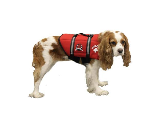 Paws Aboard Large Neoprene Designer Doggy Red Life Guard / Jacket Upto 50-90 lbs
