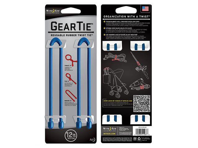 Nite-Ize Gear Tie 12 in., 2 Pack, Blue GT12-2PK-03