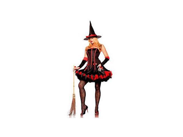 Be Wicked Fashion Witch BW888 Black/Red Small/Medium