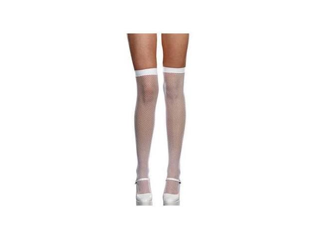 Dreamgirl White Fishnets With Backseam 7811-W White One Size Fits All