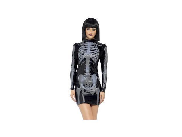 Miss Whiplash Skeleton Costume 43837 by Smiffys Black Medium
