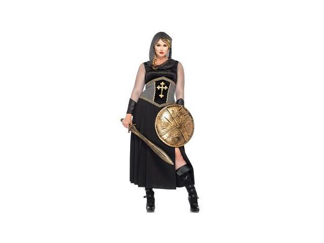 Queen Joan Of Arc Costume 85280X by Leg Avenue Black 3X/4X