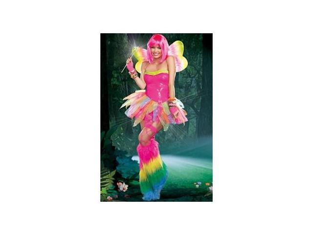Rainbow Fairy Costume 9566 by Dreamgirl Pink Small
