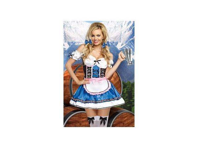 Happy New Beer Costume 9492 by Dreamgirl White/Blue Xtra Large