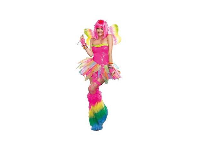 Rainbow Fairy Costume 9566 by Dreamgirl Pink Large