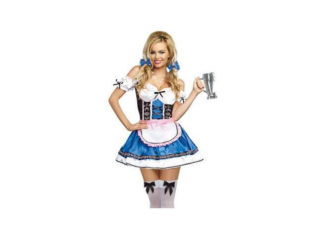 Happy New Beer Costume 9492 by Dreamgirl White/Blue Large