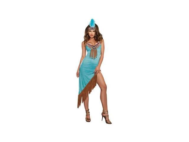 Tribal Temptation Costume 9413 by Dreamgirl Blue Xtra Large