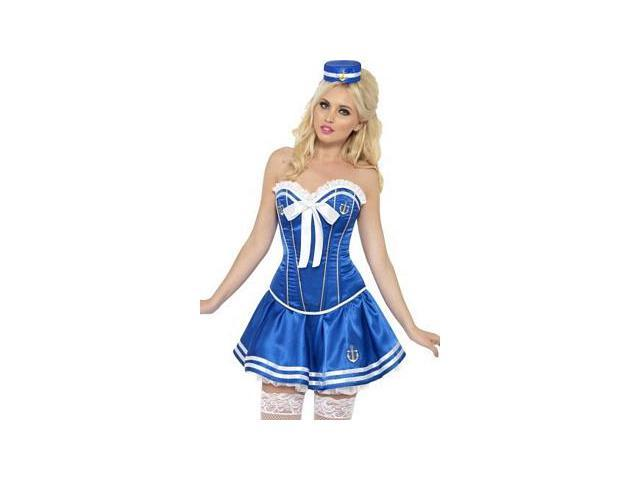 Smooth Sailing Sweetie Costume 42329 Smiffy's Blue/White Large
