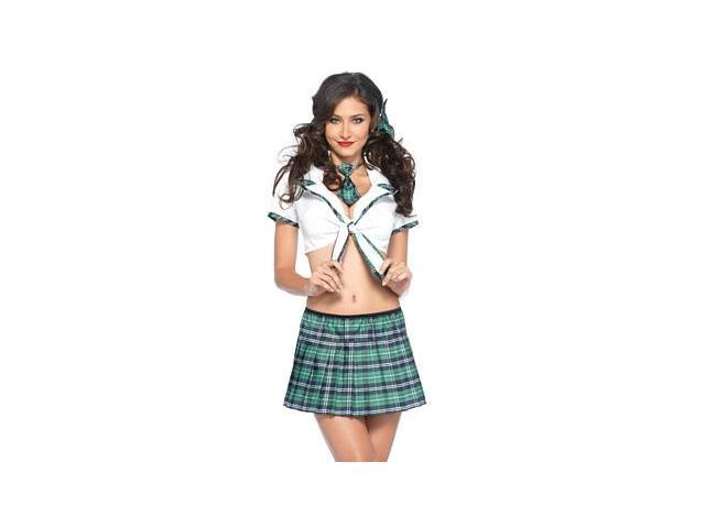 Miss Prep School Costume Leg Avenue 53046 Green/White Xtra Small
