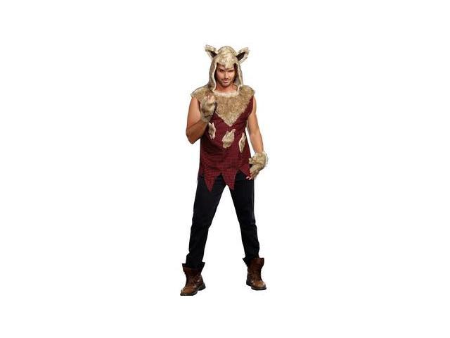 Mens Big Bad Wolf Costume 9493 by Dreamgirl Red XX Large
