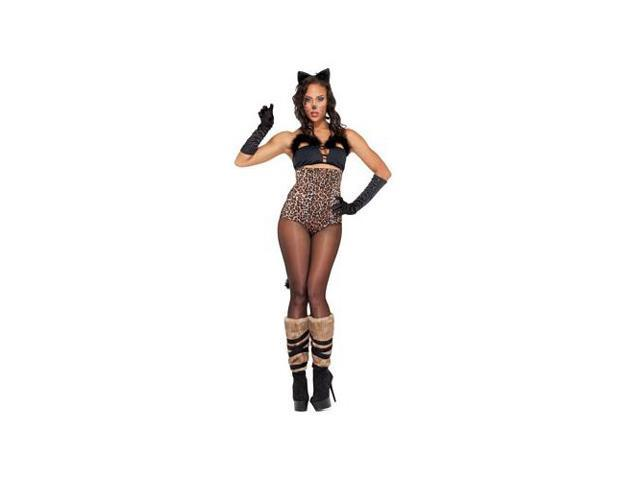 Forplay Lucious Lynx Costume 552819 Black/Leopard Medium/Large