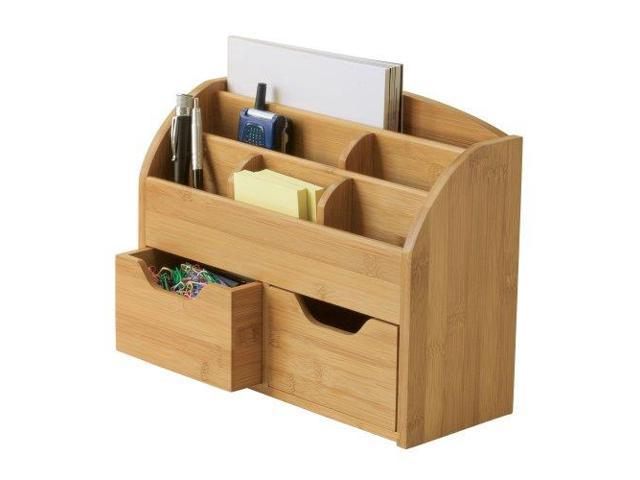 Lipper International Bamboo Space Saving Desk Organizer 809
