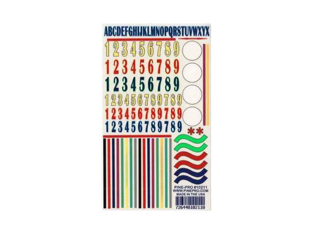 PINE-PRO 10211 Numbers/Stripes Decal 5x8