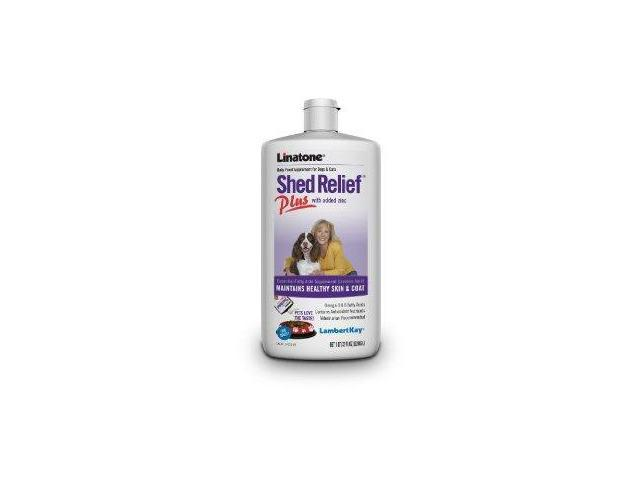 Lambert Kay Linatone Shed Relief Plus Skin and Coat Liquid Supplement for Dogs and Cats, 8-Ounce LK14122 LAMBERT KAY