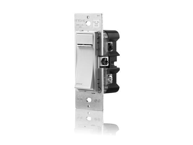 Leviton Vizia RF + Z-Wave Incandescent Dimmer Switch, 600W, White/Ivory/Light Almond (VRI06-1LZ)