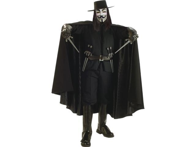 Adult V For Vendetta Deluxe Cape Rubies 16732