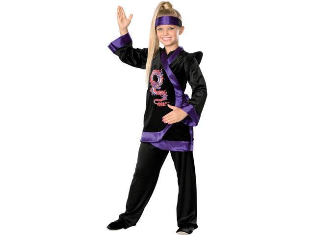 Girl's Purple Ninja Costume Rubies 882380