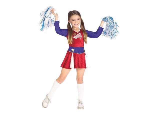 Girl's Retro Cheerleader Costume Rubies 881131
