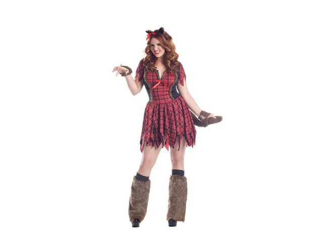 Plus Size Sassy Werewolf Costume by Party King PK163XL