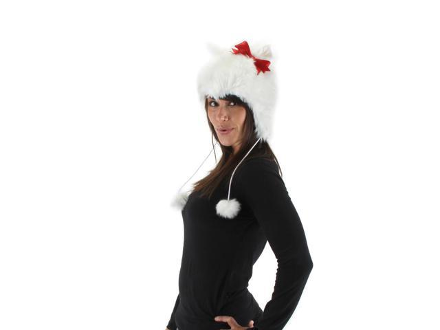 Adult White Kitty Hoodie Hat Elope Costumes 290990