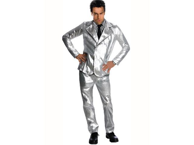 Zoolander Derek Silver Suit & Wig Costume Adult One Size Fits Most Up To 44