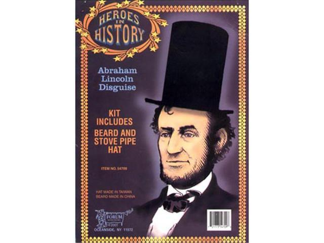 Abraham Lincoln Beard & Hat Disguise Adult Costume Kit